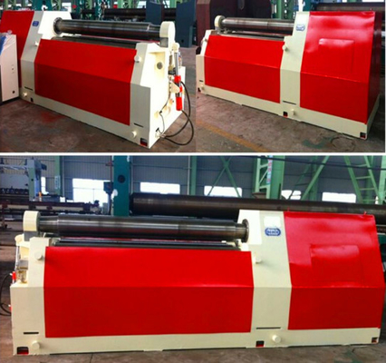 Heavy Duty Steel Sheet Bending Machine , Universal 4 Roll Bending Machine