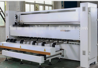 High Efficient White CNC Grooving Machine Double Head For Metal Sheet
