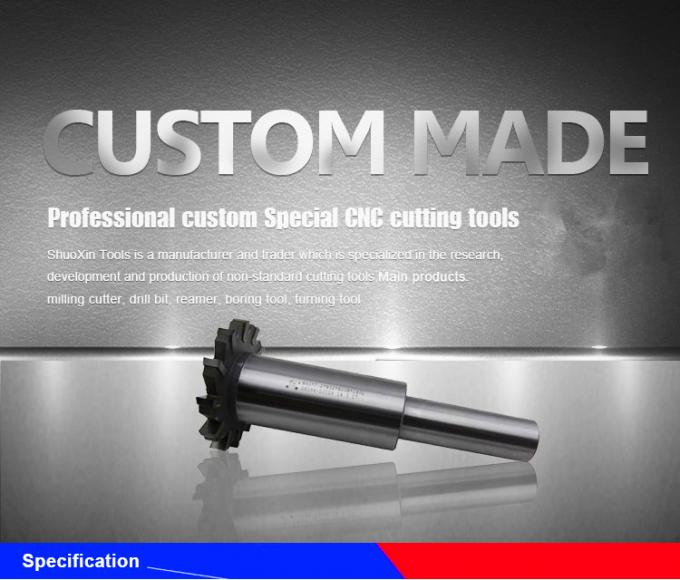 Professional Carbide T Slot Milling Cutter Customized CNC Cutting Tool